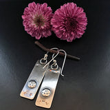 Little Windows Rectangle Sterling & Copper earrings #7