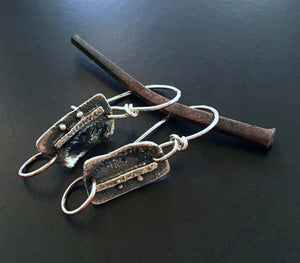 Fused & Reticulated Sterling Earrings #4