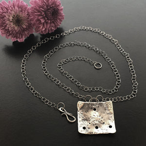 Little Windows Large Square Sterling necklace