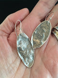 Medium Organic Sterling Silver Lightly Reticulated Ovals #11