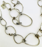 """No Guff"" Handmade Big Silver Chain OOAK"