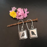 Sterling Birdie Earrings
