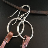 Sterling & Copper Tongue & Cheek Earrings