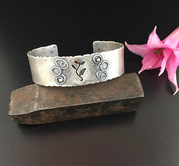 Silver Dust & Ivy Cuff - Standard size