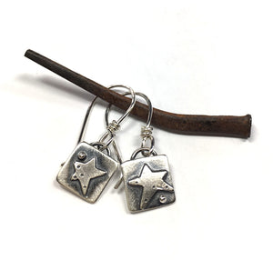 Sterling Tiny Valise with Star Earrings