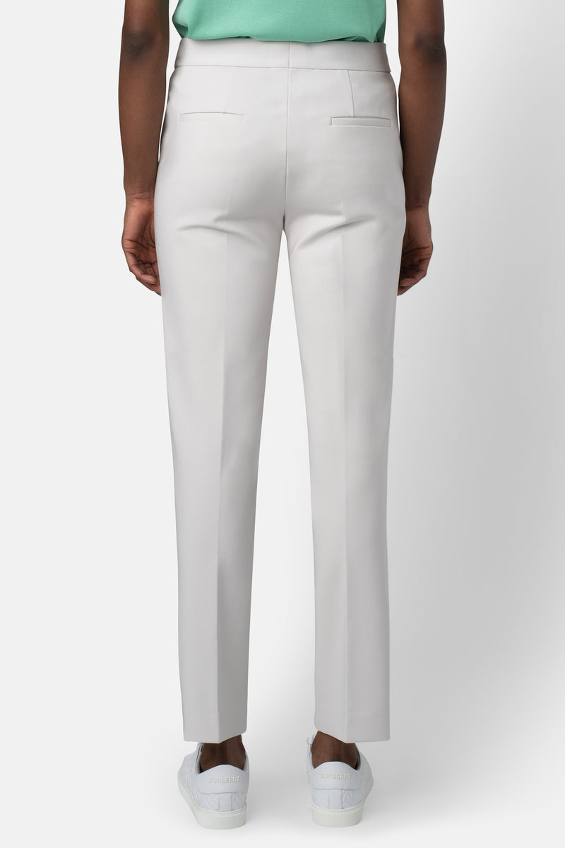 Super Matte Jersey Fitted Ankle-Length Pant - Bone