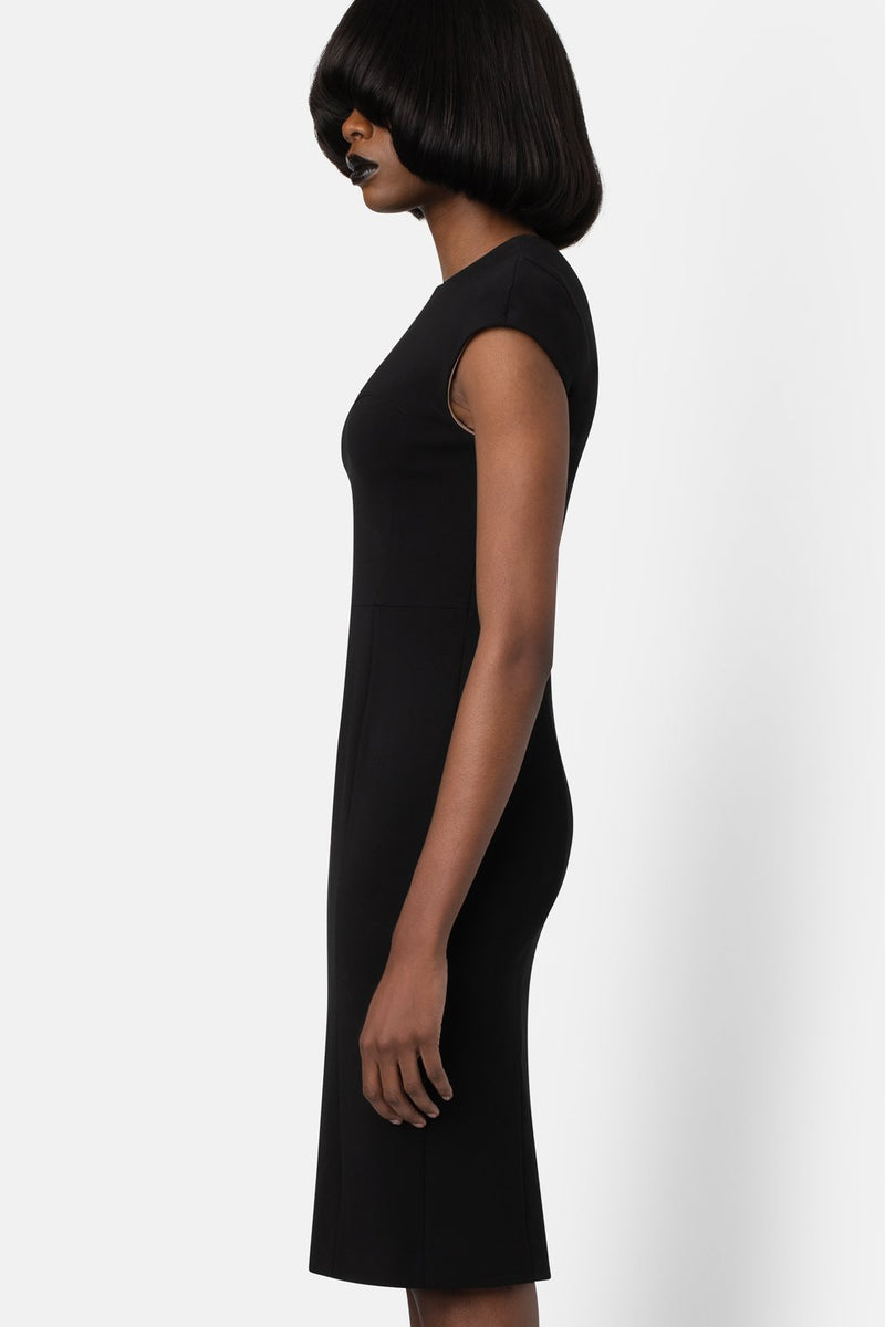 Body Sculpter, Cap Sleeve Dress - Black - landscapestore