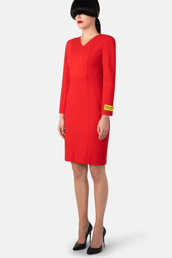 Body Sculpter Dress Blazer - Scarlet - LANDSCAPE