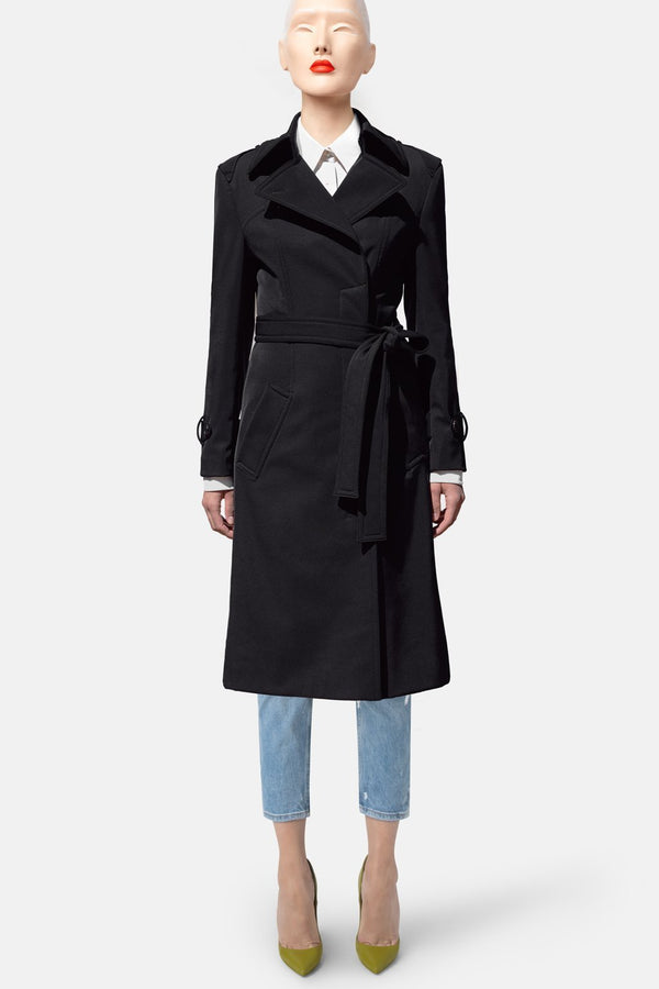 Climate Control Trench Coat – Black - LANDSCAPE