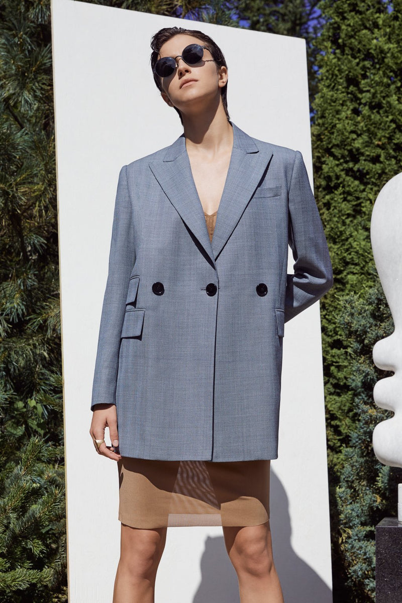 COOL WOOL STRETCH JACKET - SHADOW BLUE - LANDSCAPE