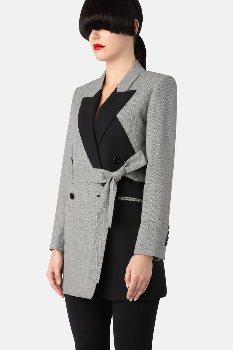 Double-Breasted Blazer - Shadow Grey - LANDSCAPE