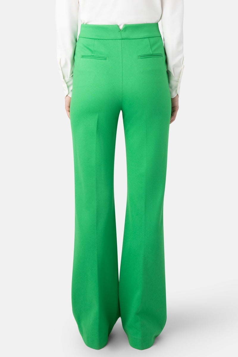 Fit-to-Flare Double Jersey Pant - Green - LANDSCAPE
