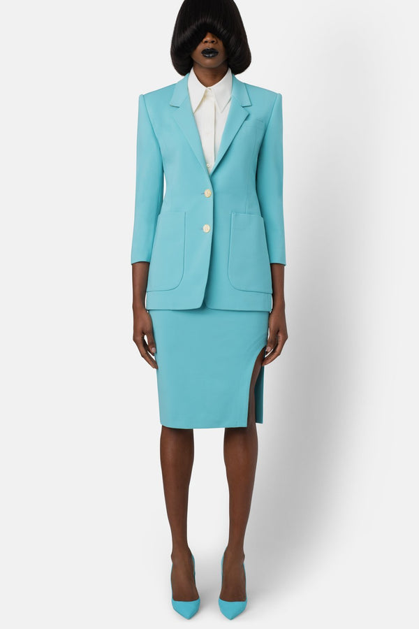 Super Matte Jersey Blazer - Swimming Pool - landscapestore