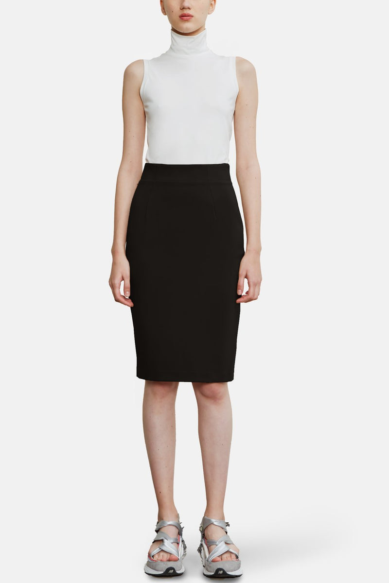 Super Matte Jersey Body Sculpter Skirt - Black - LANDSCAPE
