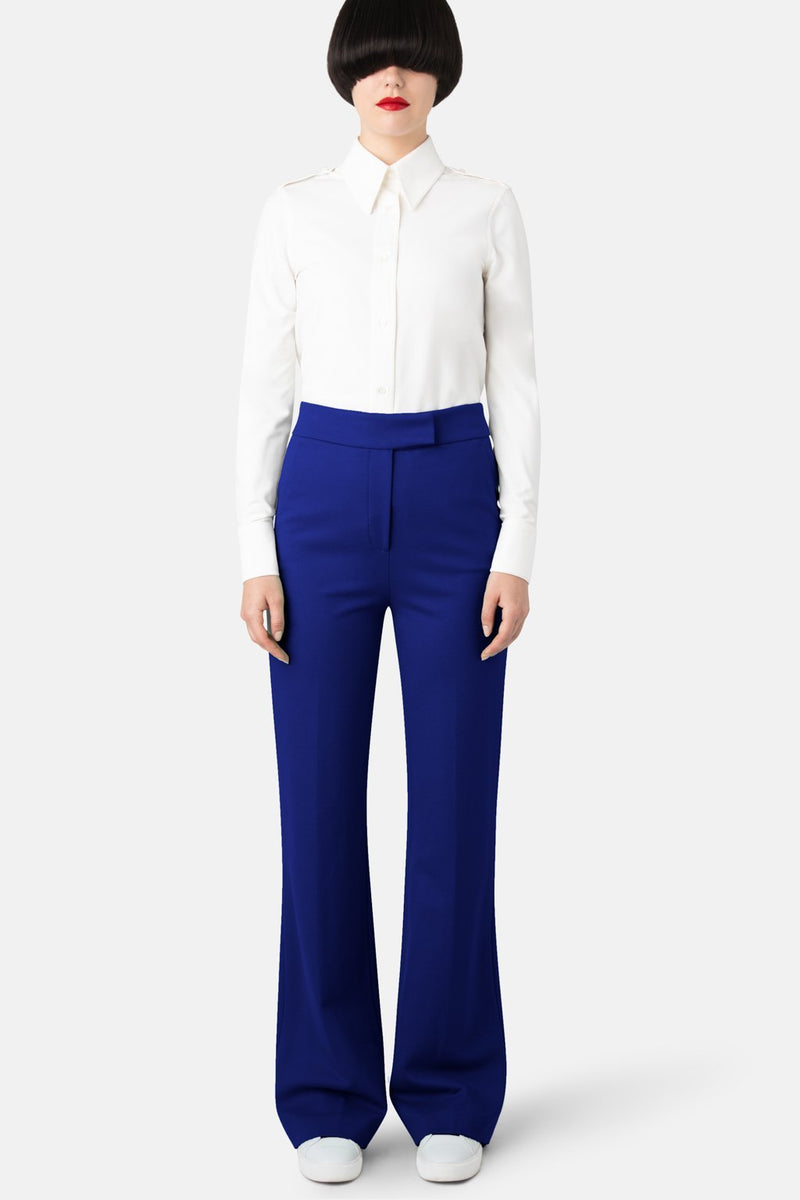 Super Matte Jersey Fit-to-Flare Double Jersey Pant - Optic Blue - LANDSCAPE