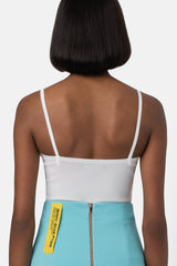 Technical Mesh Bustier - Ivory - landscapestore