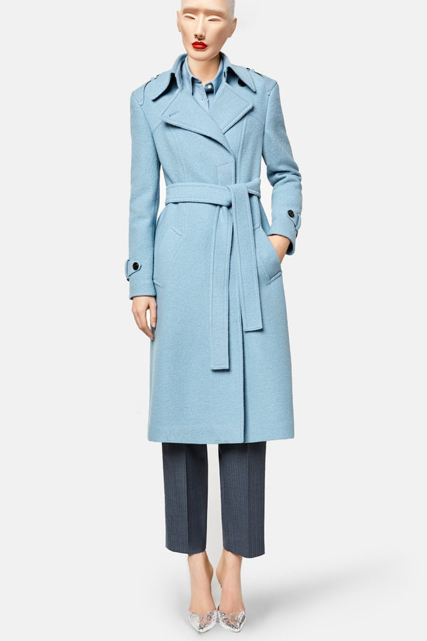 Wool Trench Coat – Sky - LANDSCAPE