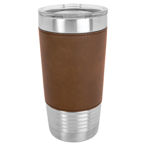 20 oz. Leatherette Polar Camel Tumbler with Clear Lid