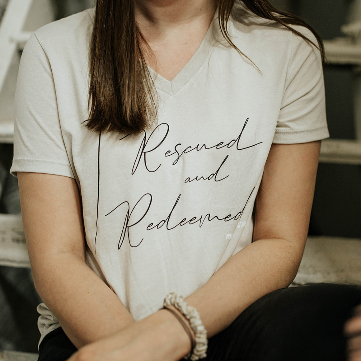 Rescued & Redeemed | Ladies | V-Neck
