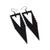 Terrabyte v.03 // Leather Earrings - Black - LIGHT RAZOR DESIGN STUDIO