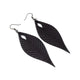 Terrabyte v.10 // Leather Earrings - Black - LIGHT RAZOR DESIGN STUDIO