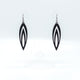 Totem 08 [L] // Leather Earrings - Black - LIGHT RAZOR DESIGN STUDIO