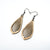Gem Point 14 [S] // Wood Earrings - Mahogany