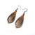 Gem Point 14 [S] // Wood Earrings - Bolivian Rosewood