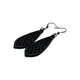 Gem Point 01 [S] // Leather Earrings - Black - LIGHT RAZOR DESIGN STUDIO