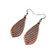 Gem Point 10 [S] // Wood Earrings - Sapele - LIGHT RAZOR DESIGN STUDIO