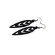 Totem 05 [S] // Leather Earrings - Black - LIGHT RAZOR DESIGN STUDIO
