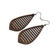 Gem Point 10 [M] // Wood Earrings - Walnut - LIGHT RAZOR DESIGN STUDIO