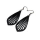 Gem Point 02 [M] // Leather Earrings - Black - LIGHT RAZOR DESIGN STUDIO