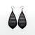 Gem Point 12 [L] // Leather Earrings - Black - LIGHT RAZOR DESIGN STUDIO