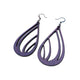 Drop 03 [L] // Leather Earrings - Purple - LIGHT RAZOR DESIGN STUDIO