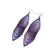 Terrabyte 17 // Leather Earrings - Medium Purple