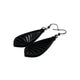 Gem Point 09 [S] // Leather Earrings - Black - LIGHT RAZOR DESIGN STUDIO
