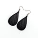 Drop 05 [S] // Leather Earrings - Black - LIGHT RAZOR DESIGN STUDIO