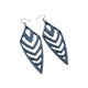 Arrowhead 03 [L] // Leather Earrings - Navy Blue - LIGHT RAZOR DESIGN STUDIO