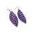 Terrabyte 14 [S] // Leather Earrings - Medium Purple - LIGHT RAZOR DESIGN STUDIO