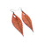 Terrabyte 10 // Leather Earrings - Light Red