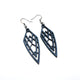 Arrowhead 01 [S] // Leather Earrings - Navy Blue - LIGHT RAZOR DESIGN STUDIO
