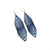 Terrabyte 17 // Leather Earrings - Navy Blue