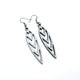 Totem 05 [S] // Leather Earrings - Silver - LIGHT RAZOR DESIGN STUDIO