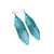 Terrabyte 17 // Leather Earrings - Turquoise Pearl