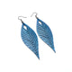 Terrabyte 10 // Leather Earrings - Light Blue Pearl