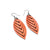 Terrabyte 14 [S] // Leather Earrings - Orange - LIGHT RAZOR DESIGN STUDIO