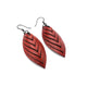 Terrabyte 14 [S] // Leather Earrings - Red - LIGHT RAZOR DESIGN STUDIO
