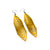 Terrabyte 17 // Leather Earrings - Yellow