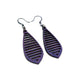 Gem Point 10 [S] // Leather Earrings - Purple - LIGHT RAZOR DESIGN STUDIO